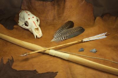 Flèche de style amérindienne à pointe en silex