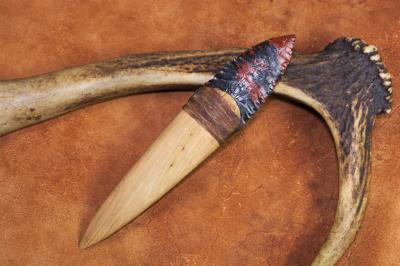 Couteau à lame en obsidienne de style Basketmaker